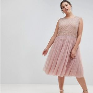 Blush cocktail dress from ASOS